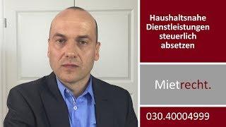 Betriebskosten - Haushaltsnahe Dienstleistungen steuerlich absetzen | Rechtsanwalt Bredereck