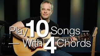 Video Play 10 Songs With 4 Chords - Free Guitar Lessons download MP3, 3GP, MP4, WEBM, AVI, FLV Agustus 2018