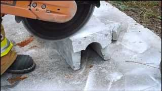 The EXTRACTOR Rescue Blade™ - Cutting Concrete with Re-bar