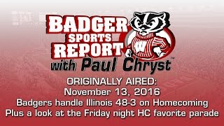 Badger Sports Report with Paul Chryst - UW 48 - Illinois 3