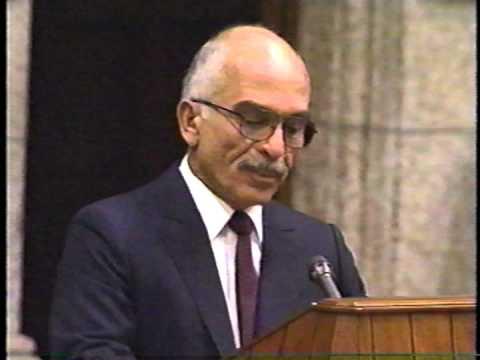 King Hussein of Jordan in Ottawa, Canada in 1989