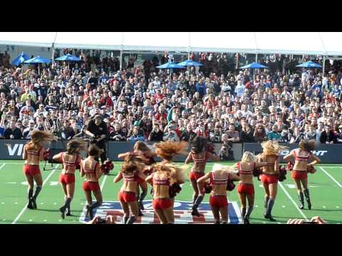 Cheerleaders Performing to Party Rock Anthem at Wembley NFL 2011