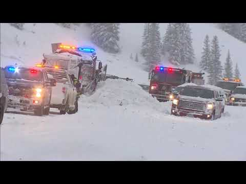 Avalanches bury part of Interstate 70 in Summit County, Colorado
