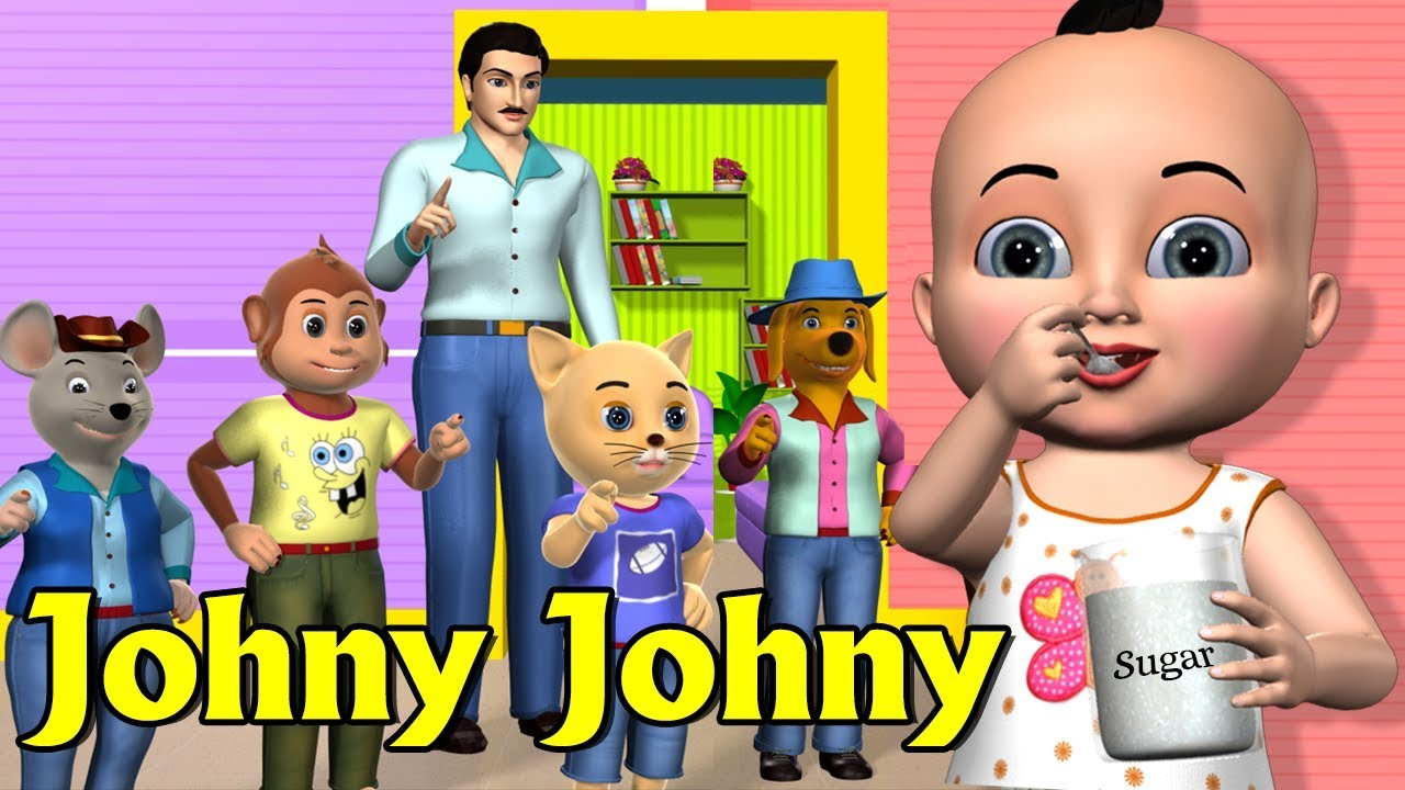 Johny Johny Yes Papa Nursery Rhyme 1 | Kids Songs | 3D Animation Rhymes For Children