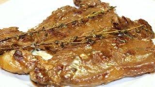 طريقة عمل شرائح اللحمة الانتركوت بصوص البصل و الزبادي و الزعتر - Entrecote With Onion Sauce