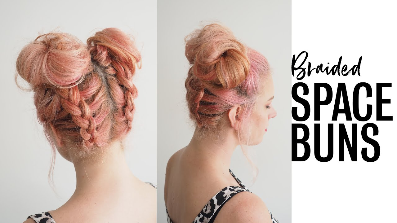 Diy Braided Space Buns Hairstyle Tutorial Youtube