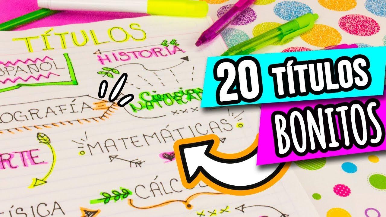 Coronas Para Decorar Cuadernos.20 Ideas Para Decorar Tus Apuntes Titulos Bonitos Ideas Paso A Paso Regreso A Clases Catwalk
