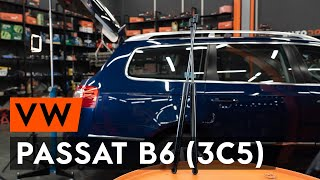 Hoe een gasveer achterklep vervangen op een VW PASSAT B6 (3C5) [AUTODOC-TUTORIAL]
