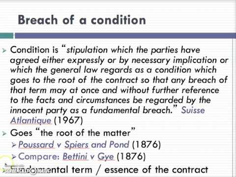 Breach of Contract Lecture (1 of 4)