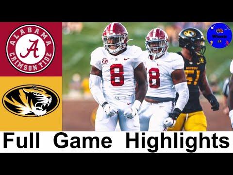 2 Alabama Vs Missouri Highlights College Football Week 4 2020 College Football Highlights Youtube