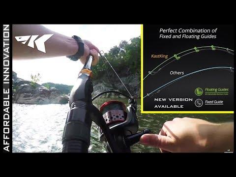 KastKing BlackHawk Travel Rod Fishing for 40LB Catfish