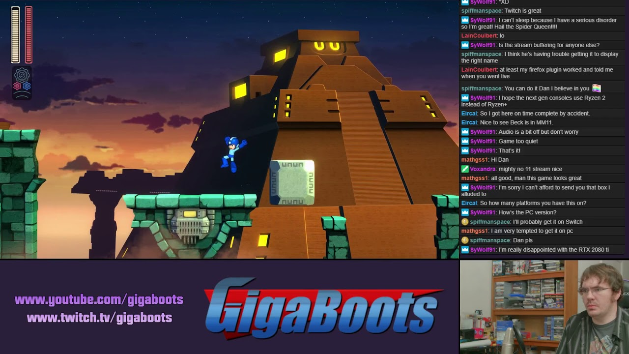 Mega Man 11 2nd Playthrough PS4 Livestream (Twitch Archive)