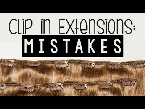 Clip in Hair Extensions - The 5 Worst Mistakes You Can Make | Instant Beauty ♡