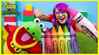 Giant Magical Crayon School Supplies Back to School Toy Hunt with Gus and Rainbow
