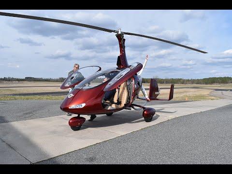 Cavalon Gyroplane Flight Demo (buzz the hanger at 4:30 mark)