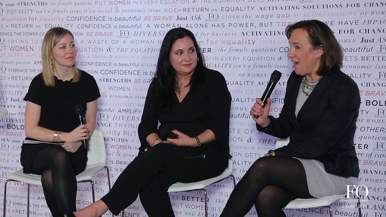 Cindy Robbins at The Equality Lounge @ Davos 2018