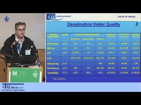 Master Plan Of Desalination In Israel
