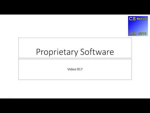 [CSWatch J276] 017 Proprietary Software
