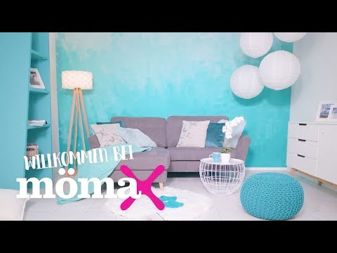 Wande Streichen Wandgestaltung Ombre Look Momax Beratung Youtube