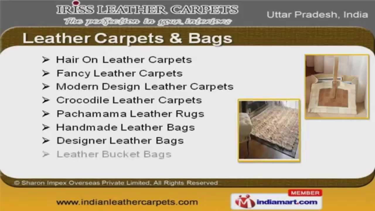 High Quality Leather Carpets By Sharon Impex Overseas Private Limited Kanpur