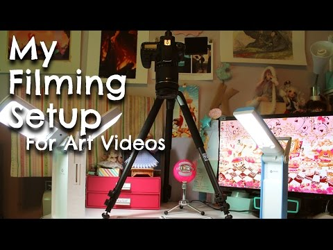 My FILMING SETUP for Art Videos