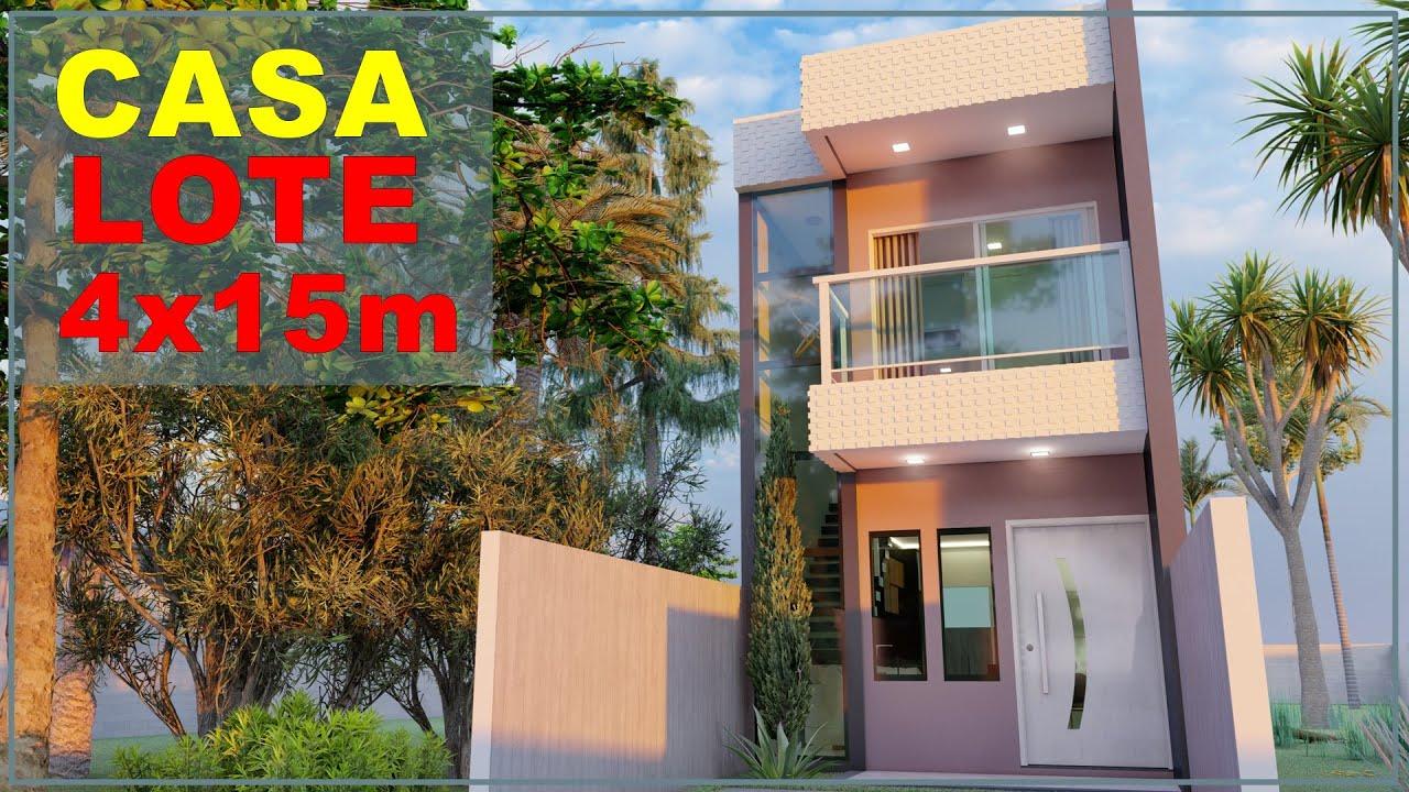 Download Casa pequena e moderna   TERRENO 4x15   Sobrado