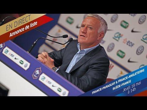 Jeudi 18 : conférence de presse de Didier Deschamps en direct (14h)