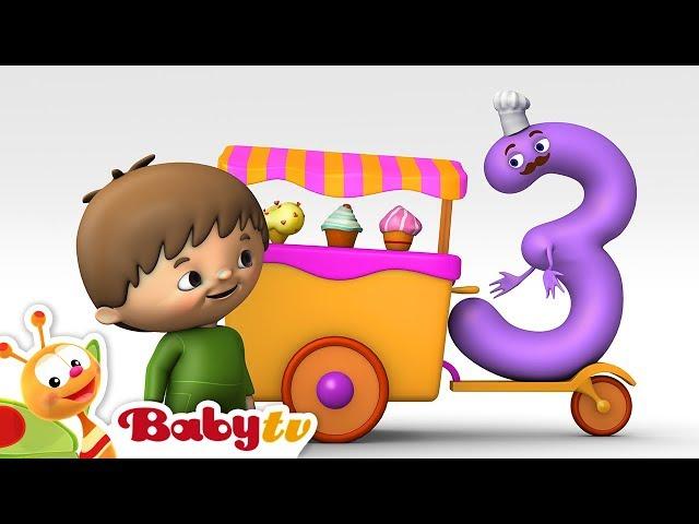 Charlie y los Números - Charlie conoce Número  3 | BabyTV (Español)