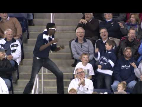 Fan Dances To Livin' On A Prayer At Penn State Men's Hockey Game