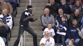 Fan Dances to Livin on a Prayer at Penn State Mens Hockey Game