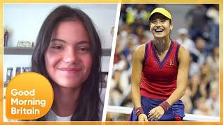 US Open Champion Emma Raducanu Reveals Her Prize Money Plans \u0026 Tennis Court Obstacle | GMB
