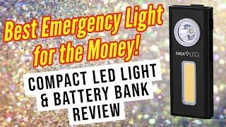 Compact LED Task Light / Work Light / Emergency Light Battery Bank from NextLED