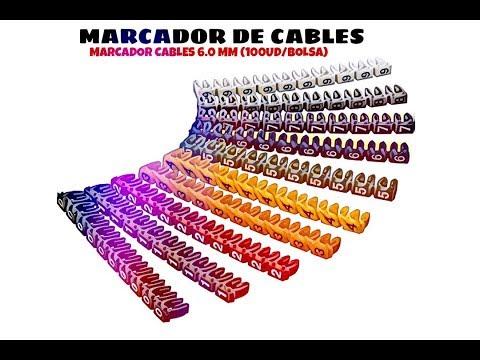 Video de Marcador cables  6.0 mm (100 ud/bolsa)  Multicolor