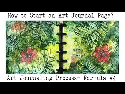 Art Journal for Beginners | How to  Art Journal? | Starting a Blank Page | Formula #4