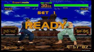 Virtua Fighter 2 ver2.1 Expert Mode Akira Sega Saturn Gameplay