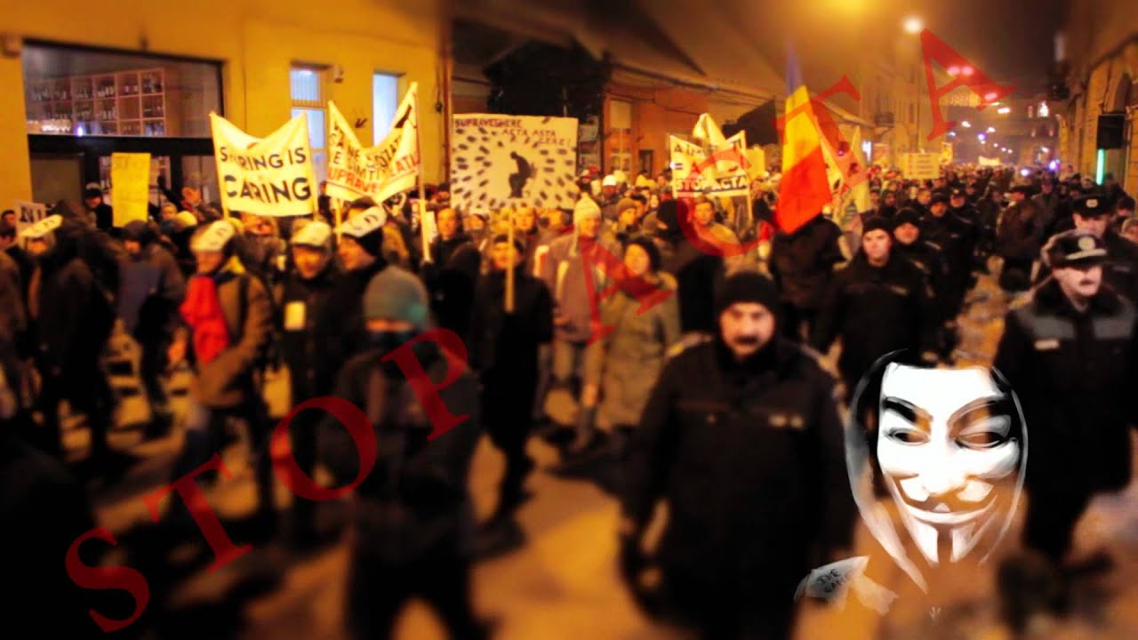 Anti ACTA Protest in Cluj-Napoca, Romania 11.02.2012 - THIS REVOLUTION WILL NOT BE TELEVISED