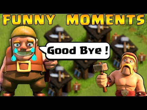 COC Funny Moments, Glitches, Fails, Wins and Trolls Compilation #3 | CLASh OF CLANS Builder Left