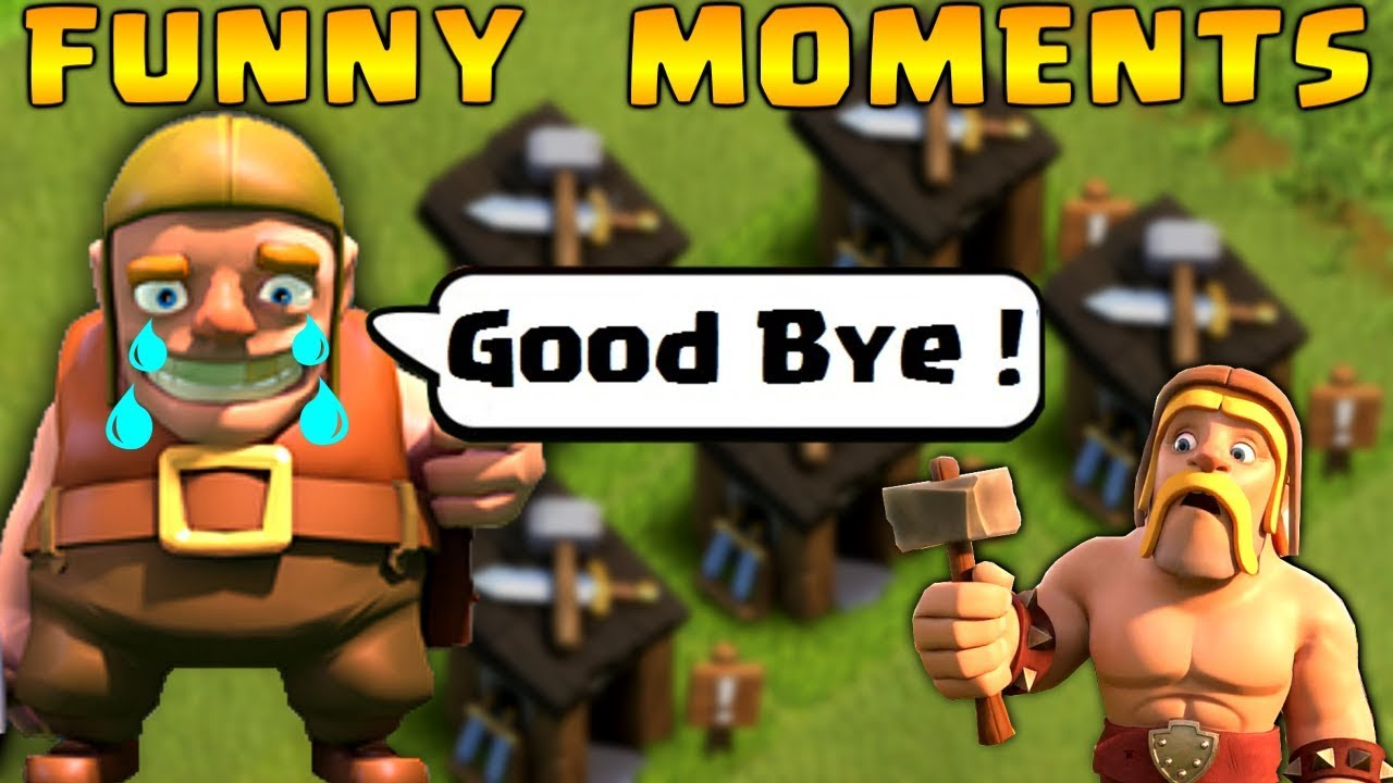 Coc Funny Moments Glitches Fails Wins And Trolls Compilation  Clash Of Clans Builder Left