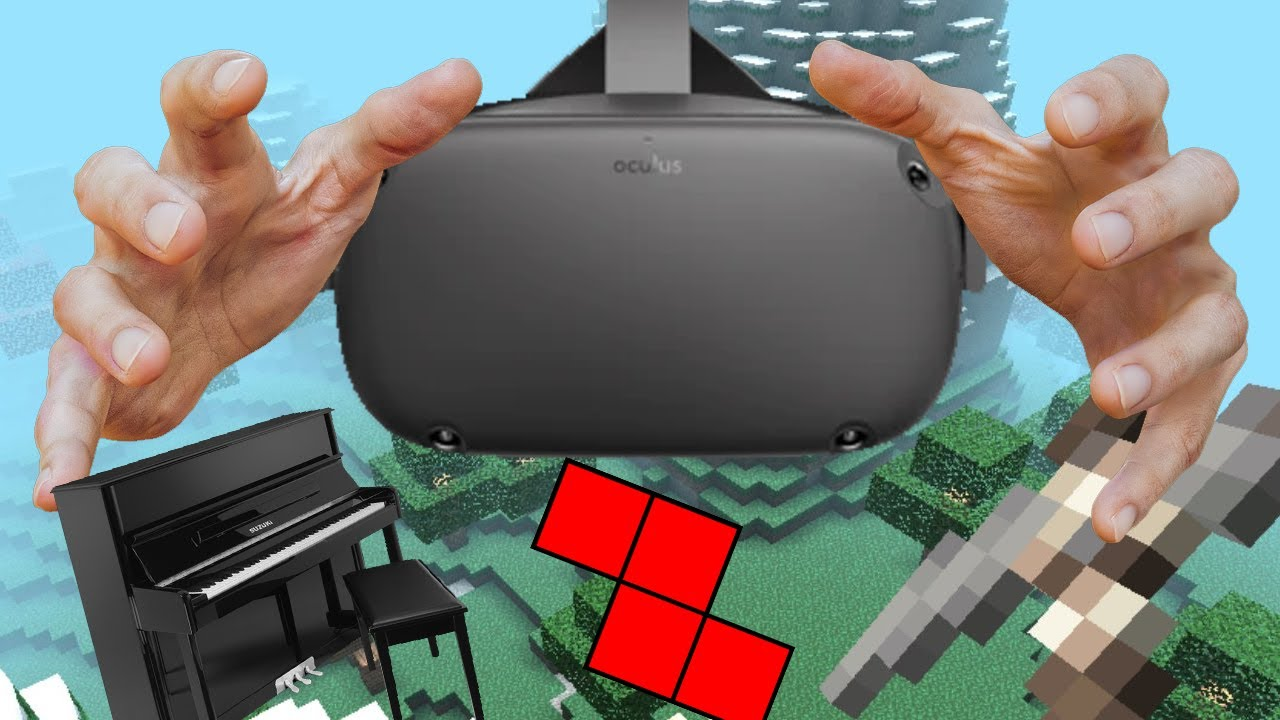 Oculus Quest Hand Tracking Test (VR Piano, MINECRAFT?) - YouTube