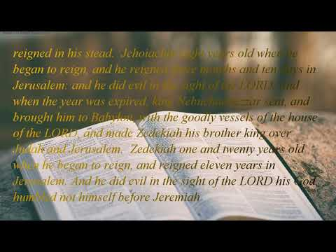 The Holy Bible | book 14 - 2 Chronicles - Chapter 36