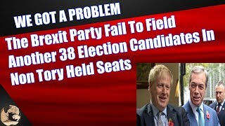 The Brexit Party Fail To Field Another 38 Election Candidates In Non-Tory Held Seats