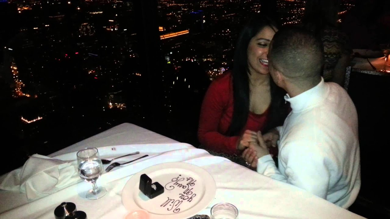 Surprise Proposal At Signature Room Chicago Il Youtube