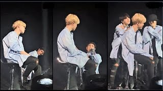 BTS members shows their love for Jimin on stage as he couldn't dance due to his health!