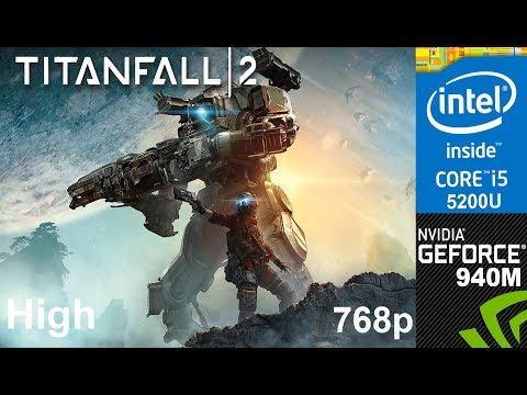 Titanfall 2 on HP Pavilion 15-ab032TX, 768p, High Settings, Core i5 5200u + Nvidia Geforce 940m