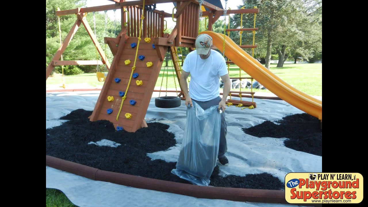 How To Install A Rubber Mulch Pit Youtube