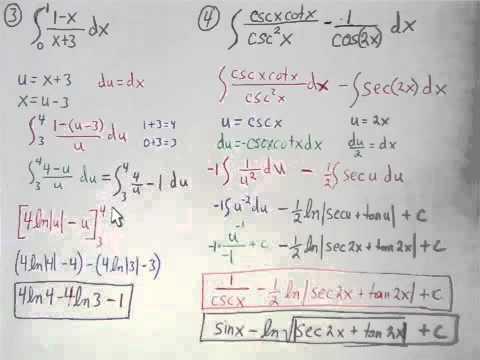 Ch 5 1-5 4 Quiz Review - Calculus