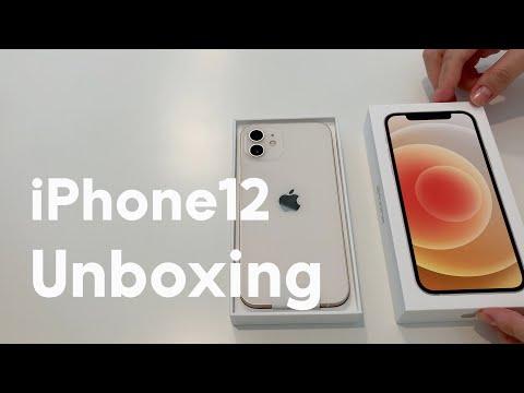 아이폰 12 화이트 언박싱 / XS, XR, 5 비교 (iPhone12 white unboxing)