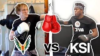 Logan Paul VS KSI Training Battle (who will win the fight ?) **newest footage**