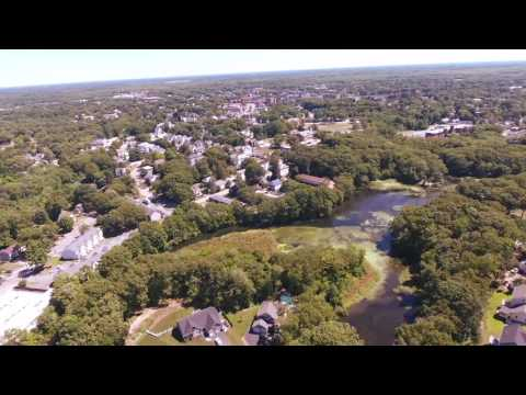 Fly Over Attleboro, MA - DJI Phantom 4 Course Lock Test - Aug 2016