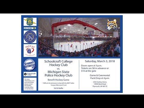 Schoolcraft Hockey Club vs. Michigan State Police Hockey Club